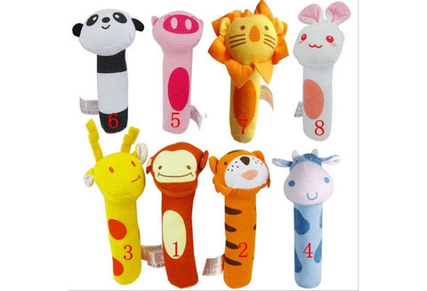 Cute Baby Educational Toys BIBI Stick Grip Newborn Baby Dolls  Animal Design [9325377476]
