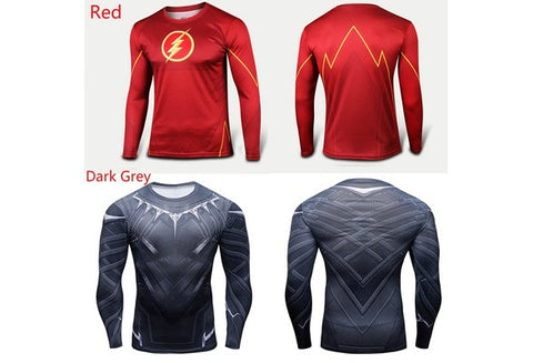 Marvel Superhero Casual Comics Costume Cycling Tee T-Shirts Bicycle Sport Jersey The Flash Shazam Costume [9325956804]