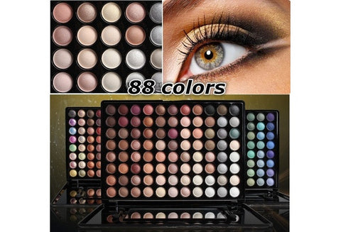 Pro 88 Colors Matte Eyeshadow Palette Fashion Eye Shadow Set In Box with Mirror [9325730756]