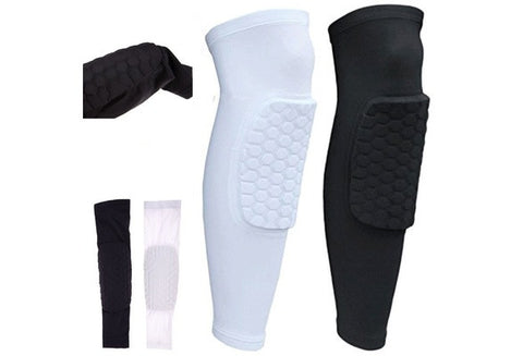Honeycomb Knee Pads Bumper Crashproof Football Basketball Leg Sleeve Sports Kneepad Protector Knee Brace [9326006468]