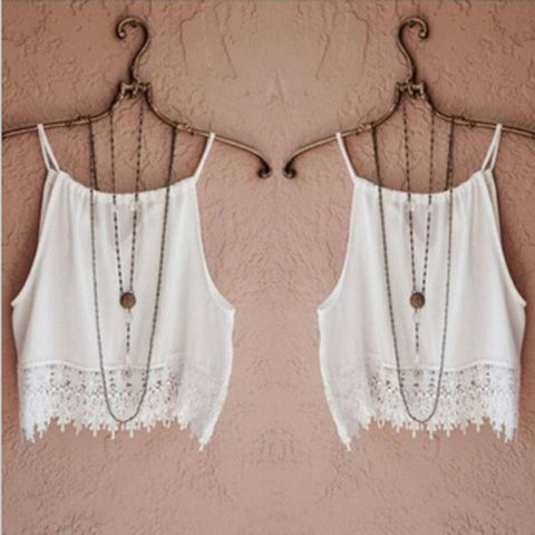 Lace White Crop Top [6259288900]