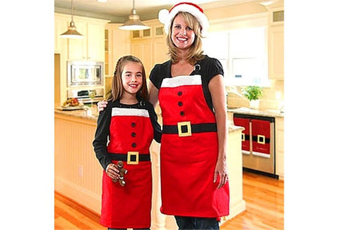 Christmas Kitchen Bar Home Adult Red Cooking Party Aprons Funny [9324863044]