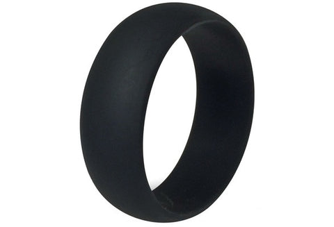 Size 7 to 15 8MM Black Silicone Ring Band Hypoallergenic [9326003716]