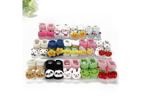 Kids Baby Unisex Newborn Animal Cartoon Socks Cotton Shoes Booties Boots 0-10M [9325375812]