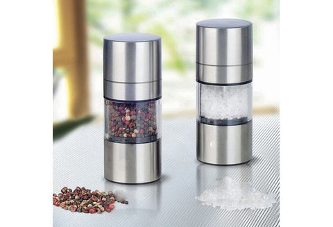 High Quality Stainless Steel Manual Salt Pepper Mill Grinder Portable Kitchen Mill Muller Tool [9325745284]