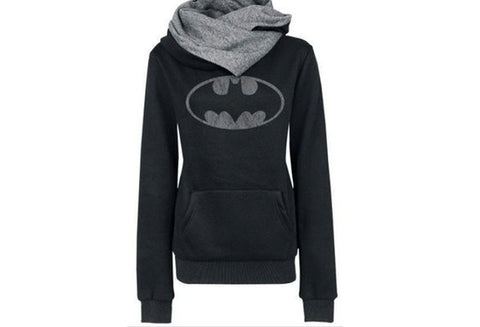 Women Autumn Winter Long Sleeve Turtle Neck Color Joint Hooded Hoodies Casual Pullover Warm Sweatshirt S-XL [9714856911]