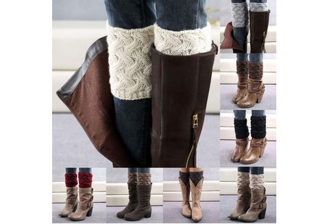 Women Coarse Needle Leg Warmers Socks Boot Cover With High Quality [9324866308]