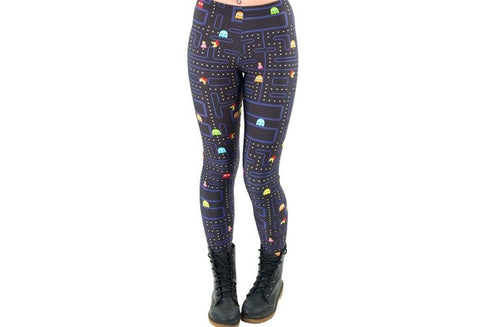 Women Space Print Pants Fitness Legging Muz-man PAC-MAN LEGGINGS Woman Leggings High Quality Digital Printing Fitness Leggins [9325211908]