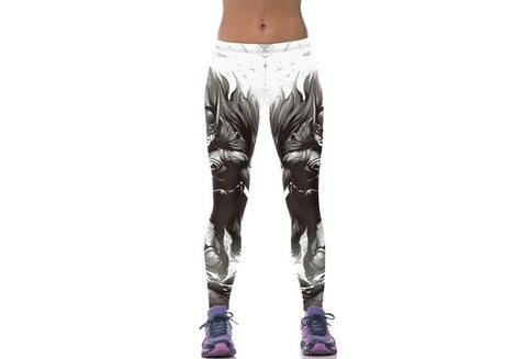 Women YOGA Running Sport Pants Batman High Waist Cropped Leggings Fitness Trousers [9325220164]