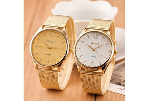 1 Pc Fashion montre femme relogio geneva Watch Women Classic Gold Quartz Watch Stainless Steel Full Steel Wrist Watch [9325378756]