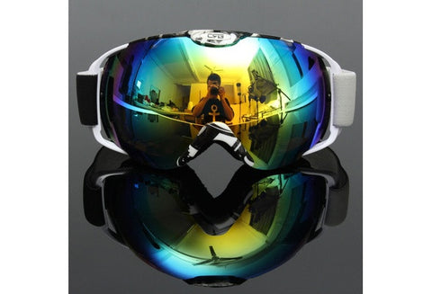 Unisex Professional Spherical Anti-fog Dual Lens Outdoor Snowboard Ski Goggle [9324881284]