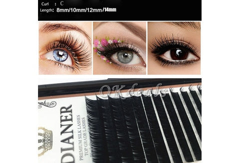 Unique Hot Mink Individual False Eyelashes Fake Lash Extensions Semi Permanent C curl [9325744388]
