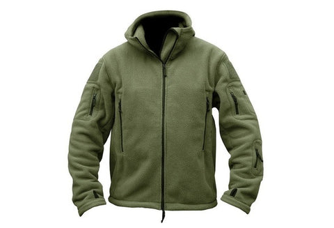 Army Tactical Thermal Polartec Fleece Outdoor Jacket Men's Military Softshell Sport Hiking Hoodie Coat Camping Sportwear Clothes [9324250308]