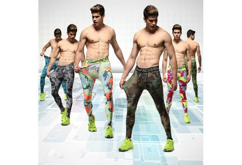 Men run sports pants tights male fitness pants high elastic compression PANTS LEGGINGS basketball running pants [9325217284]