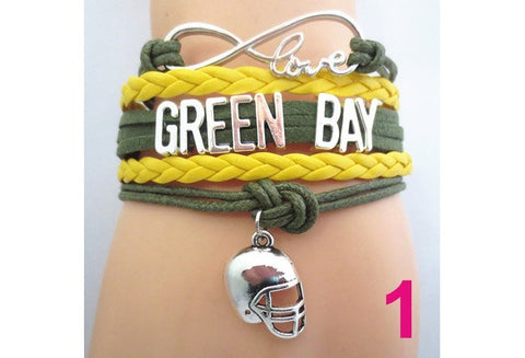 Infinity Love GREEN BAY State Packers football Team Bracelet Customized Wristband friendship Bracelets [9326002884]