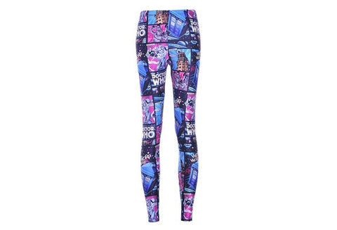 Summer Women's Leggings 3D Comic Jegging Digital Printed Wholesale Capris Legging Fitness Sports Pencil Pants Drop Shipping [9325227908]