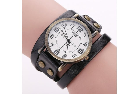 Vintage Cow Leather Bracelet WatchWrist Watch [9325369220]