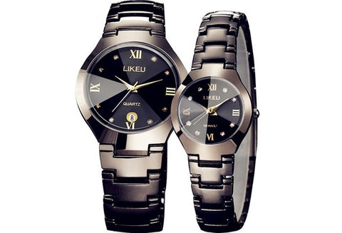 Fashion Creative Luxurious watches women watch waterproof ms han edition contracted watch male couple watches a quartz expression [9325388804]