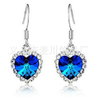 Classics Multi-color Crystal Earring Sea Earrings [4915767044]