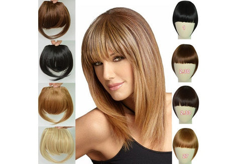 Fashion  Synthetic Hair Pieces Front Clip in Hair Bangs Fringe Hair Extensions Accessories [9325727876]