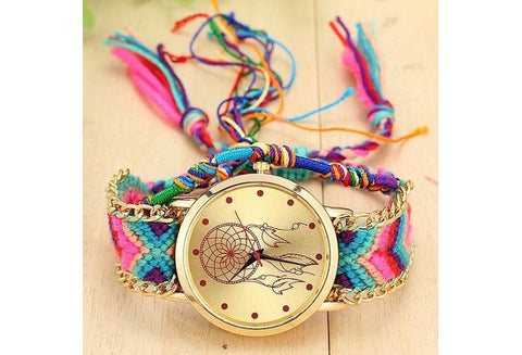 Fashion Women Dreamcatcher Watch Wool Handmade Friendship Watch Relojes Mujer 1468 [9325200452]