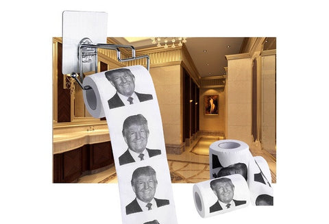 New Donald Trump Smile 2/3ply 150 Sheets Toilet Paper Roll Novelty Funny Gag Gift (Size: 2) [9325736900]