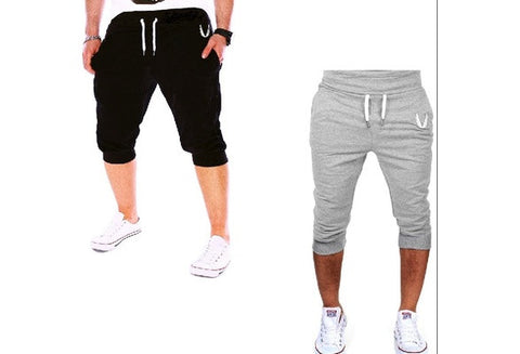Men Printed Fashion Shorts Sports Running Hip Hop Trousers [9325203844]