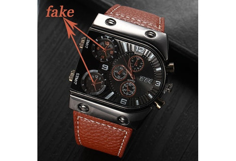 New Fashion Luxury Brand Leather Strap Stainless Steel Quartz Casual Wristwatch [9325221636]