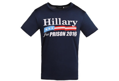 Hillary for Prison 2016  Men's Anti Clinton T Shirt  Make America Great Again [9325956420]