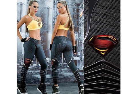 Fitness Leggings Women Gym Workout Sport Leggins 3D Printed Skinny Calzas Pants Deportivas Running Mujer [9325209092]