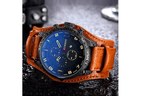 CURREN 8225 Luxury Brand Army Military Watches Men Clock Leather Strap Waterproof Analog Quartz Watches  [9325366852]