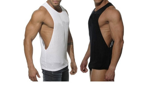 Men Sexy Summer Tanks Mens Thank Tops Sports Fitness Vest Super Longline Sleeveless T-Shirt [9325859524]