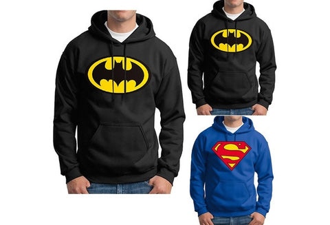 Superman Batman Hoodie Adult, Youth and Toddler Hooded Sweatshirts [9325957060]