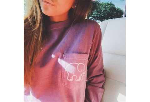 Harajuku New 2016 Women's Summer Casual Tops Tees Ivory Ella Elephant Long Sleeve T-Shirts For Women [9324881220]