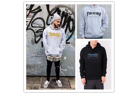 Thrasher Hoodie Men Streetwear Tracksuit Moletom Skate Sudaderas Mens hoodies and sweatshirt magazine skateboard trasher jumper [9324249540]