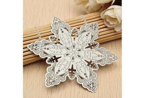 (US Warehouse)1 Pc Fashion Steel Snowflake Christmas Cutting Dies Stencils DIY Scrapbooking Album Paper Card Decor [9325733764]