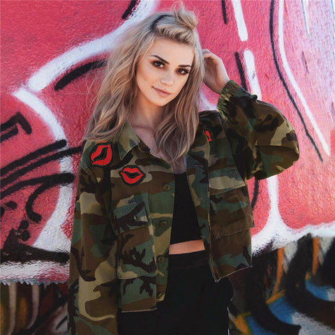 Hot Deal Sports On Sale Jacket Women's Fashion Star Camouflage Casual Baseball [519712636943]