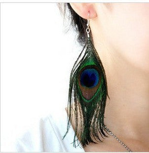 Fashion Bohemia Peacock Earrings [4915780420]