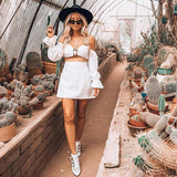 Women's Fashion Long Sleeve Sexy Bottom & Top Summer Hot Sale One Piece Dress [779894325358]