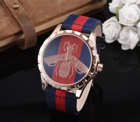 Gucci Little bee Designer's Trendy Awesome Stylish Casual Watch [3483189575752]