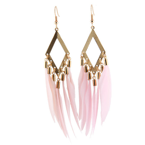Korean Summer Tassels Earrings Travel Club Prom Dress [4915766660]