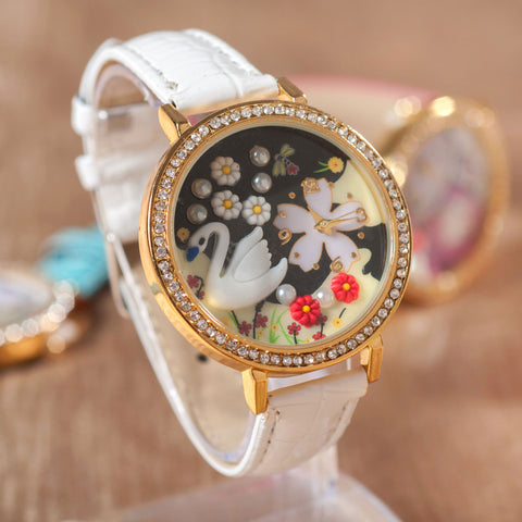 Gift New Arrival Trendy Good Price Awesome Great Deal Designer's Christmas Gifts Handcrafts Soft Stylish Ladies Lovely Watch [4915378820]