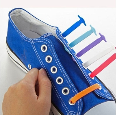 Fashion Unisex Women Men Athletic Running No Tie Shoelaces Elastic Silicone Shoe Lace All Sneakers Fit Strap [6269821380]