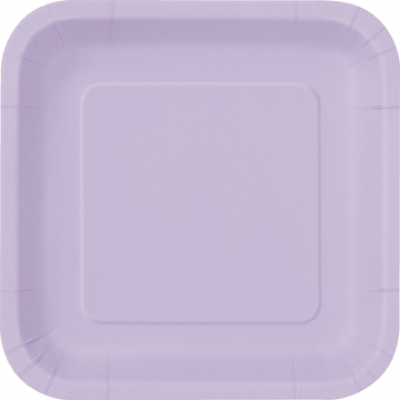 Lunch Plate- Square Lavender