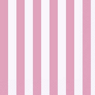 Lunch Napkin- Stripe Lt. Pink