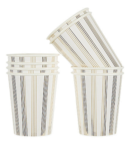 Party Cup- Gold Stripe