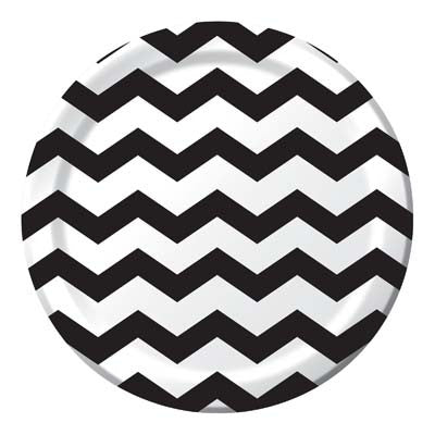Lunch Plate- Chevron Black