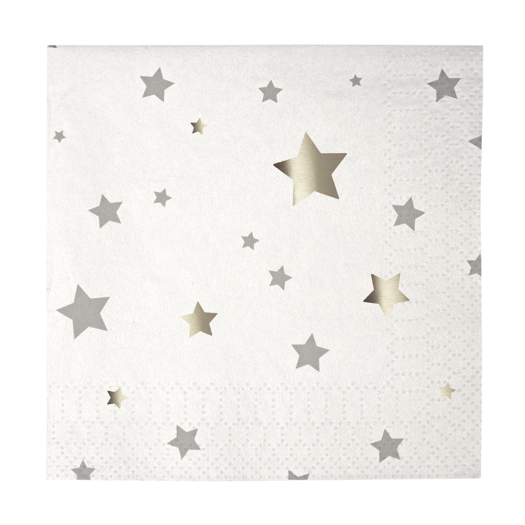 Foil Star Beverage Napkin