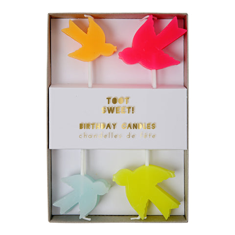 Toot Sweet Bird Candles -