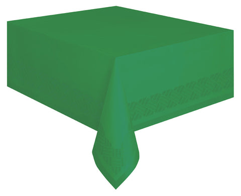 Emerald Green Paper Tablecloth -  - 1